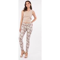 Vêtements Pantalons 5 poches Toxik3 pantalon imprimé - Zima Beige