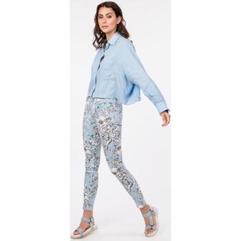 Vêtements Femme Livraison gratuite et Retour offert Toxik3 Pantalon imprimé - Lagoon Bleu