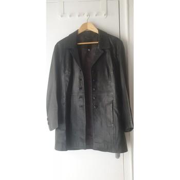 Vêtements Femme Vestes en cuir / synthétiques Pierre Cardin Veste  en cuir femme vintage Noir