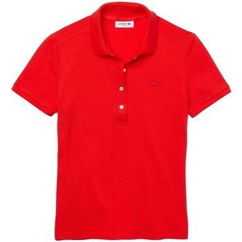 Vêtements Femme Polos manches courtes Lacoste Polo Femmes Slim Fit  ref 52088 Groseiller Rouge