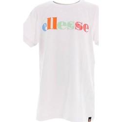Vêtements Enfant T-shirts manches courtes Ellesse Risalli Blanc