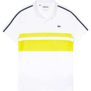 Vêtements Homme Polos manches courtes Lacoste POLO WHITE PINEAPPLE NAVY WHITE PINEAPPLE