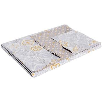 Maison & Déco Plaids, jetés La Fiancee Du Mekong Jeté de lit coton bi print Jaune mercure
