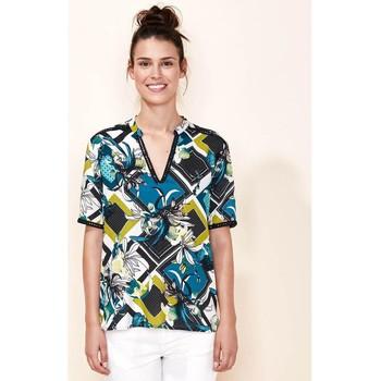 Vêtements Femme Tops / Blouses La Fiancee Du Mekong Top fluide manches courtes BIMINI Vert