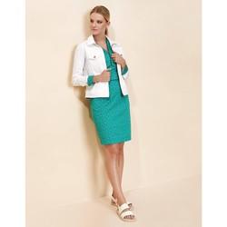 Vêtements Femme Vestes / Blazers La Fiancee Du Mekong Veste courte coton HOLGAT Blanc