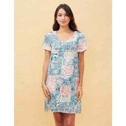 Vêtements Femme Robes courtes La Fiancee Du Mekong Robe ample imprimée GALIERA Bleu