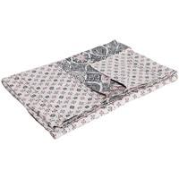 Maison & Déco Plaids, jetés La Fiancee Du Mekong Jeté de lit coton bi print Gris anthracite