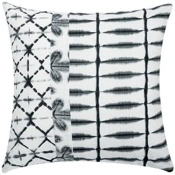 Maison & Déco Coussins La Fiancee Du Mekong Coussin imprimé déhoussable SHIBORI Blanc et noir