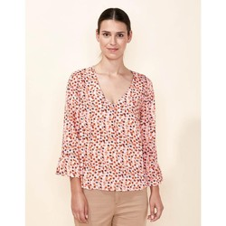 Vêtements Femme Tops / Blouses La Fiancee Du Mekong Top fluide col V CLERIA Rose