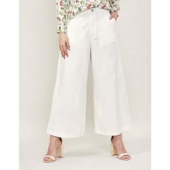Vêtements Femme Pantalons fluides / Sarouels La Fiancee Du Mekong Jupe culotte taille haute ADELY Blanc