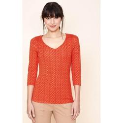 Vêtements Femme T-shirts manches longues La Fiancee Du Mekong T-shirt imprimé manches 3/4 REO Rouge