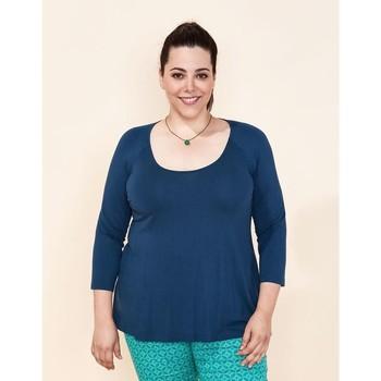Vêtements Femme Tops / Blouses La Fiancee Du Mekong T-shirt fluide NONGLO Bleu foncé