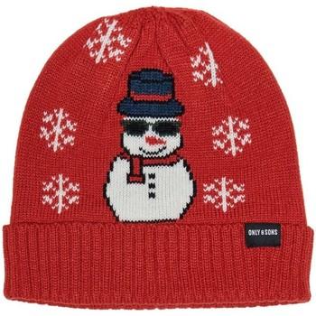 Accessoires textile Homme Bonnets Only & Sons  22014805 rouge