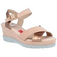 Chaussures Femme Sandales et Nu-pieds CallagHan Sandalias Cuña Mujer de Callaghan Nozomi 29001 Rose