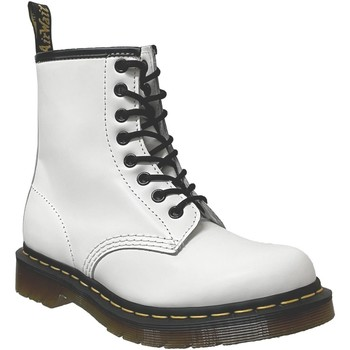 Chaussures Femme Boots Dr Martens 1460 smooth Blanc cuir