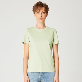 Vêtements Femme T-shirts manches courtes Smart & Joy Studio Vert anis