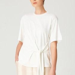 Vêtements Femme T-shirts manches courtes Smart & Joy Canneberge Blanc cassé