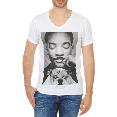 Vêtements Homme T-shirts manches courtes Eleven Paris WOLY M Blanc