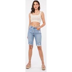 Vêtements Femme Shorts / Bermudas Toxik3 Bermuda - Luky Bleu jean clair