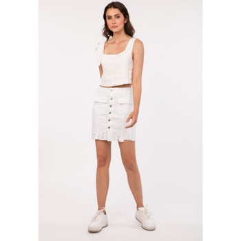 Vêtements Femme Blousons Toxik3 Jupe - Lussy Blanc