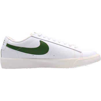 Chaussures Homme Baskets basses Nike - Blazer low lth bco/verde CI6377-108 BIANCO