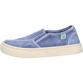 Chaussures Garçon Slip ons Natural World - Slip on  blu 6472E-690 BLU