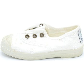 Chaussures Garçon Baskets mode Natural World - Slip on  bianco 474-505 BIANCO