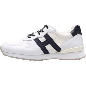 Chaussures Garçon Baskets basses Hogan - J484 bco/blu HXC4840CY50FTQ1563 BIANCO