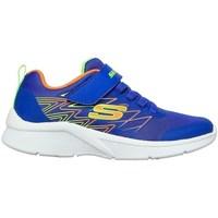 Chaussures Garçon Baskets basses Skechers Microspec Texlor Blanc, Bleu