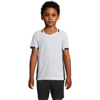 Vêtements Fille T-shirts manches courtes Sols CLASSICO KIDS Blanco Negro Blanco