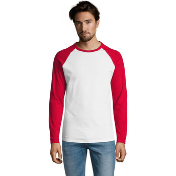 Vêtements Homme T-shirts manches longues Sols FUNKY LSL Blanco Rojo Rojo