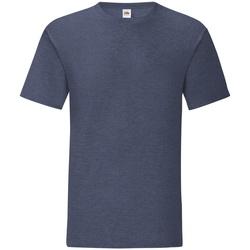 Vêtements Homme T-shirts manches courtes Fruit Of The Loom 61430 Bleu marine chiné