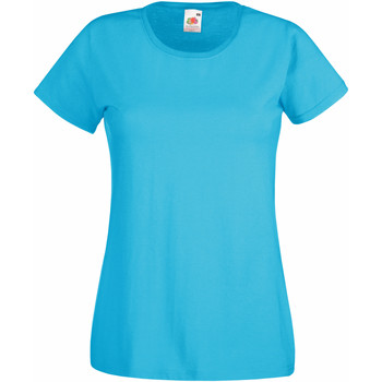 Vêtements Femme T-shirts manches courtes Fruit Of The Loom 61372 Bleu vif