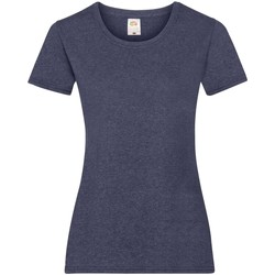 Vêtements Femme T-shirts manches courtes Fruit Of The Loom 61372 Bleu marine chiné