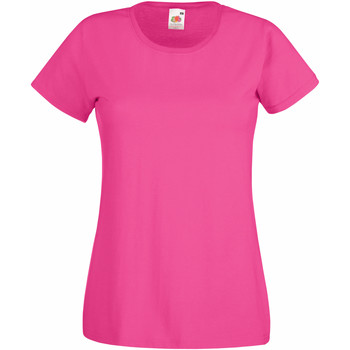 Vêtements Femme T-shirts manches courtes Fruit Of The Loom 61372 Fuchsia