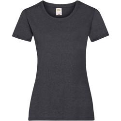 Vêtements Femme T-shirts manches courtes Fruit Of The Loom 61372 Gris foncé chiné