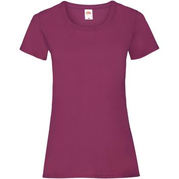 Vêtements Femme T-shirts manches courtes Fruit Of The Loom 61372 Bordeaux