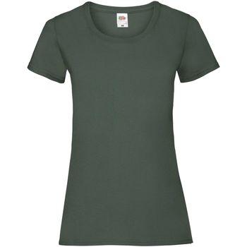 Vêtements Femme T-shirts manches courtes Fruit Of The Loom 61372 Vert bouteille