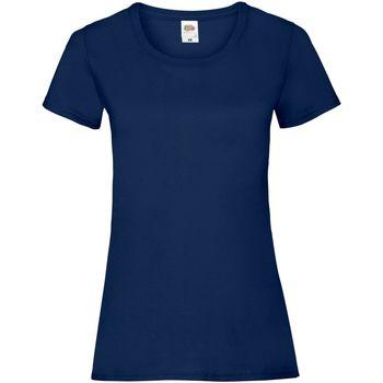 Vêtements Femme T-shirts manches courtes Fruit Of The Loom 61372 Bleu marine