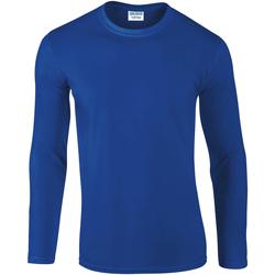 Vêtements Homme T-shirts manches longues Gildan 64400 Bleu roi