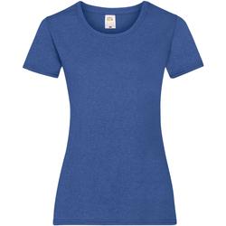 Vêtements Femme T-shirts manches courtes Fruit Of The Loom 61372 Bleu roi chiné