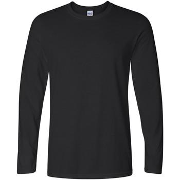 Vêtements Homme T-shirts manches longues Gildan 64400 Noir