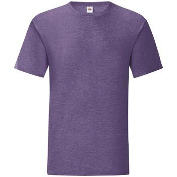 Vêtements Homme T-shirts manches courtes Fruit Of The Loom 61430 Violet chiné