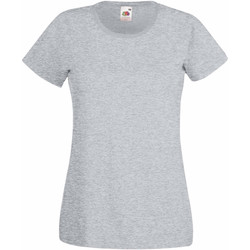 Vêtements Femme T-shirts manches courtes Fruit Of The Loom 61372 Gris chiné