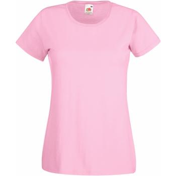 Vêtements Femme T-shirts manches courtes Fruit Of The Loom 61372 Rose clair