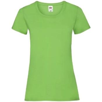 Vêtements Femme T-shirts manches courtes Fruit Of The Loom 61372 Vert clair