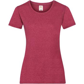 Vêtements Femme T-shirts manches courtes Fruit Of The Loom 61372 Rouge chiné