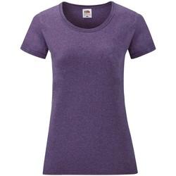 Vêtements Femme T-shirts manches courtes Fruit Of The Loom 61372 Violet chiné