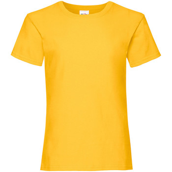 Vêtements Fille T-shirts manches courtes Fruit Of The Loom 61005 Jaune vif