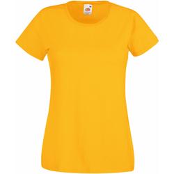 Vêtements Femme T-shirts manches courtes Fruit Of The Loom 61372 Jaune